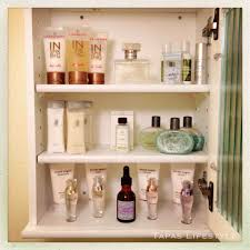 bathroom drawer organization: inside the bathroom cabinet from target for extra perfumes lotions and bathing supplies