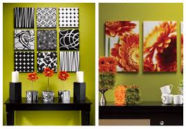 ... Combination Creating Wall Art Fabmom Number Green White Strips Theme  Candle Flower Table Black Awesome Ideas ...