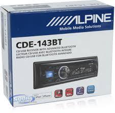 alpine cde 143bt single din bluetooth 3 0 car stereo w aux zoom