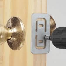 door lock installation template