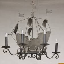 1810 6 wrought iron pirate of the caribbean ship chandelier