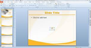 Theme For Powerpoint 2007 Glossy Gold Powerpoint Template