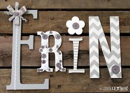 wall art letters eclectic wooden letters gre nursery letters with ribbons
