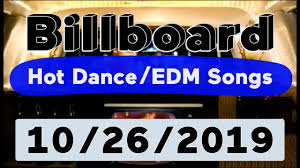 Billboard Top 50 Hot Dance Electronic Edm Songs October 26 2019