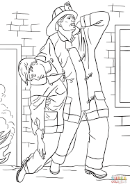Small Picture Coloring Pages Firefighter Rescues Man From House Fire Coloring