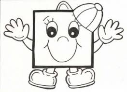 Small Picture square coloring page 1 School Spanish PK K Pinterest