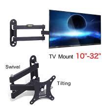 full swivel tilt tv wall mount bracket for up to 32 led lcd tvs samsung 1 of 12free