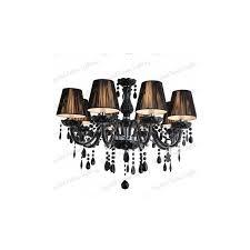 black 6 lampshades crystal chandelier black 8 lampshades crystal chandelier