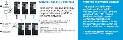 About printer and scanner packages:windows oses usually apply a download links are directly from our mirrors or publisher's website, konica minolta 367 ps printer driver torrent files or shared files from free file. Bizhub 367 287 Multi Function Printer Konica Minolta