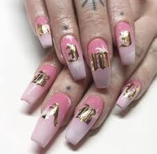 Pink Nail Art Design 30 Pretty And Cute Pink Coffin Nail Art Designs Nail Art