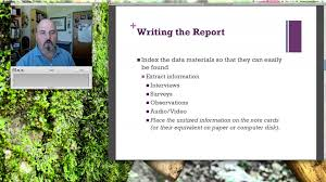 Writing the Case Study Report Lecture       YouTube YouTube Writing the Case Study Report Lecture