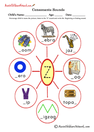 This is one of the most comprehensive collections of phonics worksheets available online. Consonants Sounds Aussie Childcare Network