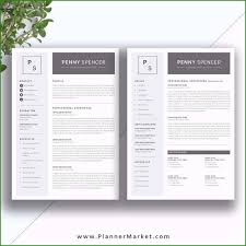 2 Page Resume Templates Free Download Awesome Resume Template Simple