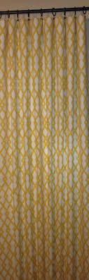 geometric curtains trellis curtains robert allen fret yellow curtains grey curtains one pair by trendynest on