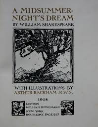 A Midsummer Nights Dream By Shakespeare Illustrated By Arthur