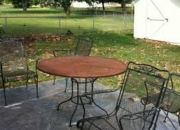 Green wrought iron patio furniture Second Hand Furniture Popular Vintage Wrought Iron Patio Furniture Recognizealeadercom Furniture Wrought Iron Patio Table Also Chairs In Green Furniture