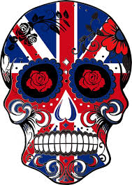 the sugar skull union jack flag will