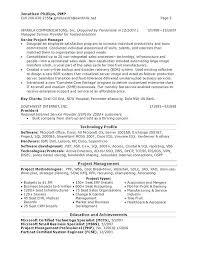 Sample Project Management Resume Old Version Old Version Old Version