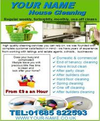 Names Of Cleaning Businesses House Cleaning Business Templates Forms Download Business