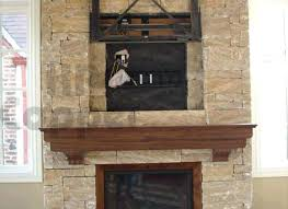 copper fireplace surround tile
