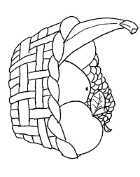 Small Picture Fruit basket coloring page