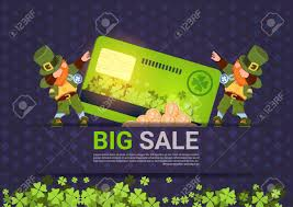 Credit Card Templates For Sale Leprechuns Hold Credit Card Sale For St Patricks Day Holiday