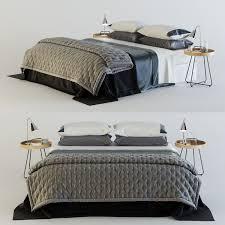 zara home bedroom set 3d model