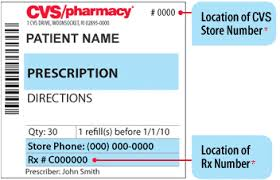 Prescription Label Template Close The Store Number Is At The Top Of The Prescription Label And The