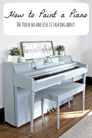 how to paint a piano a tip no one else is talking about