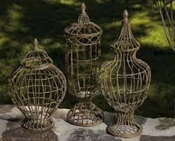 Decorative Garden Urns Wire Architectural Lidded Urns Decorative Garden Accents 33