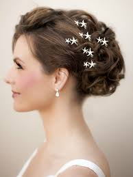 beach wedding hairstyles beach wedding updo starfish hair pins
