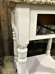 how to distress painted wood for a