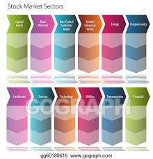 Vector Art Stock Market Sectors Arrow Flow Chart Eps