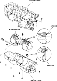 8 exploded view of the blower motor and housing tl models
