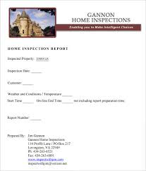 Sample Home Inspection Report Template 9 Free Word Pdf Documents