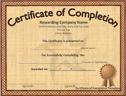 how to make a certificate of completion 12 certificate templates free downloads images completion