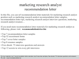 Resume Marketing Research Analyst Cover Letter Best Inspiration