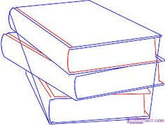 236x179 book ilration how to draw books in shelf which can be read