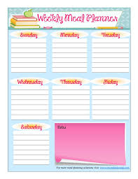 meal planner free free printable meal planner august
