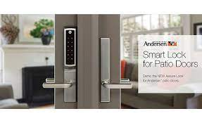 smart lock hinged patio doors