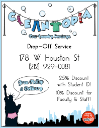 graphic design shira daniels flyer logo design for cleantopia laundry service