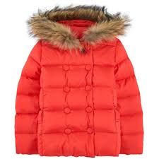 lili gaufrette girls vermillion red faux fur coat