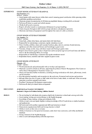 Fantastic Room Attendant Resume Skills Photo Documentation