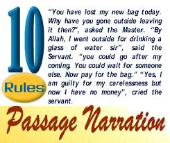 10 Rules Of Passage Narration English Grammar A To Z