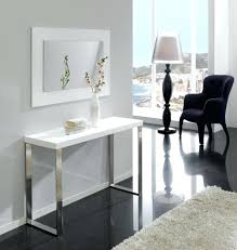 Modern white console table Rounded Edge Modern Console Table Modern White Console Table With Drawers Donpowerme Modern Console Table Donpowerme