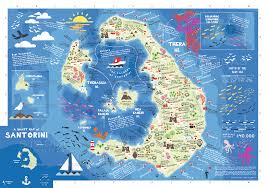 staridas geography  a smart map of santorini