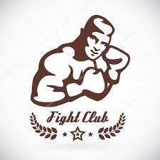 Boxer Fitness Model Ilustrace Znamení Symbol Tlačítko Odznak