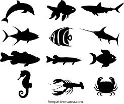 Fish Silhouette Vectors Printable Templates Freepatternsarea