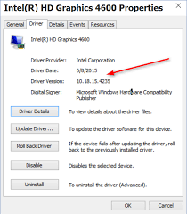 Driver New In Intel Forums Windows Graphics Hd Wu 10 Update 4600 -