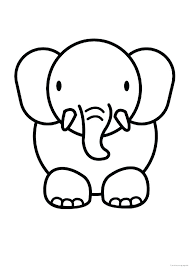 Printable Elephant Colouring Sheets Adults Color Pages Free
